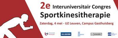 2e Interuniversitair congres Sportkinesitherapie | 4 mei 2019 | UZ Leuven – Campus Gasthuisberg